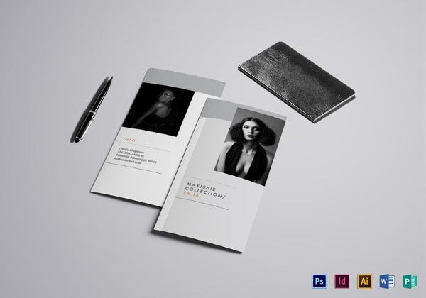 fashion brochure illustrator template