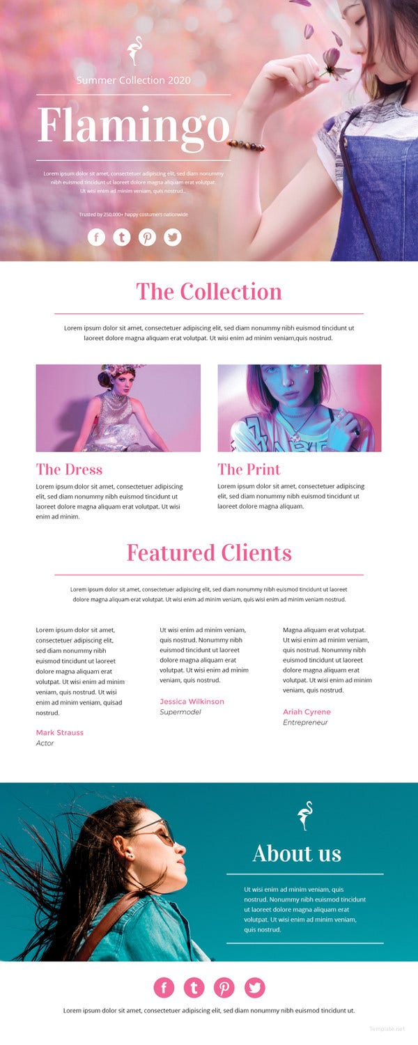 51 e mail newsletter word psd html format free premium fashion email newsletter template spiritdancerdesigns Gallery