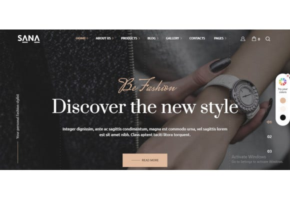 fashion stylist beauty salon and makeup artist wordpress theme