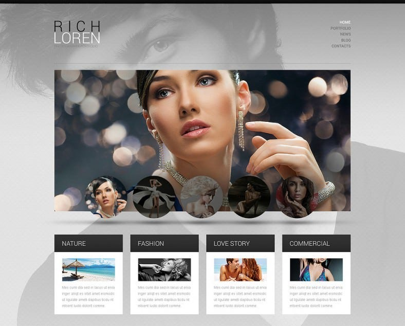 Fashionable Photographer Portfolio WordPress Theme