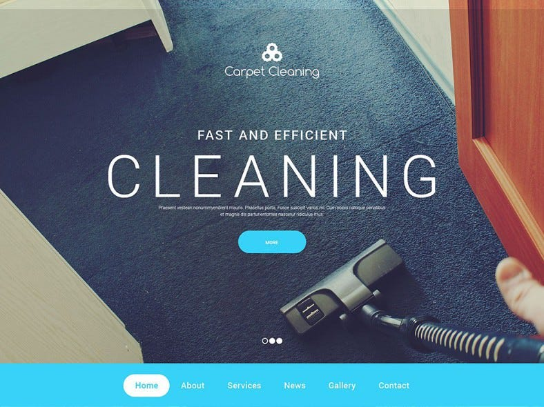 fast cleaning company html website template 788x590