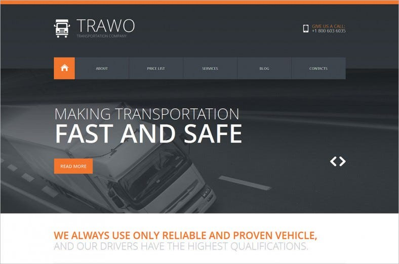 Fastest Transportation Joomla Template
