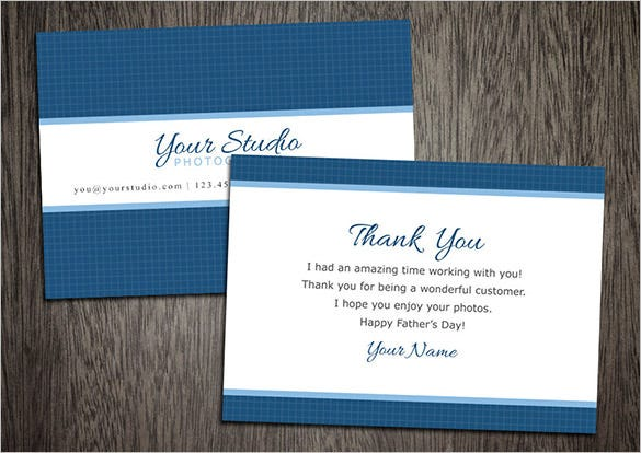 fathers day photography thank you card template