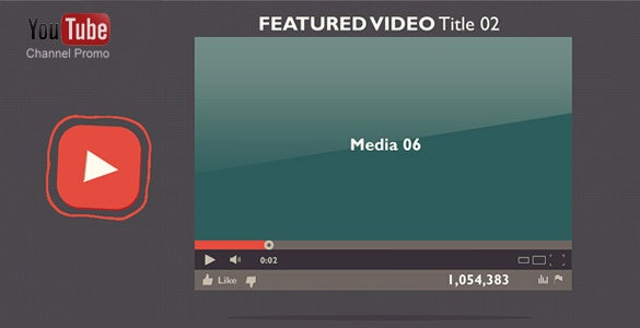 featured youtube after effect template