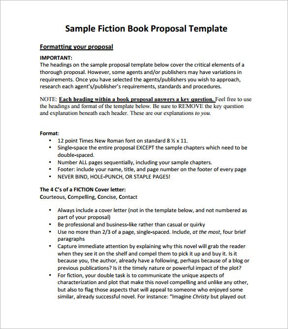 Book Proposal Template   Free Word Excel Pdf Format Download