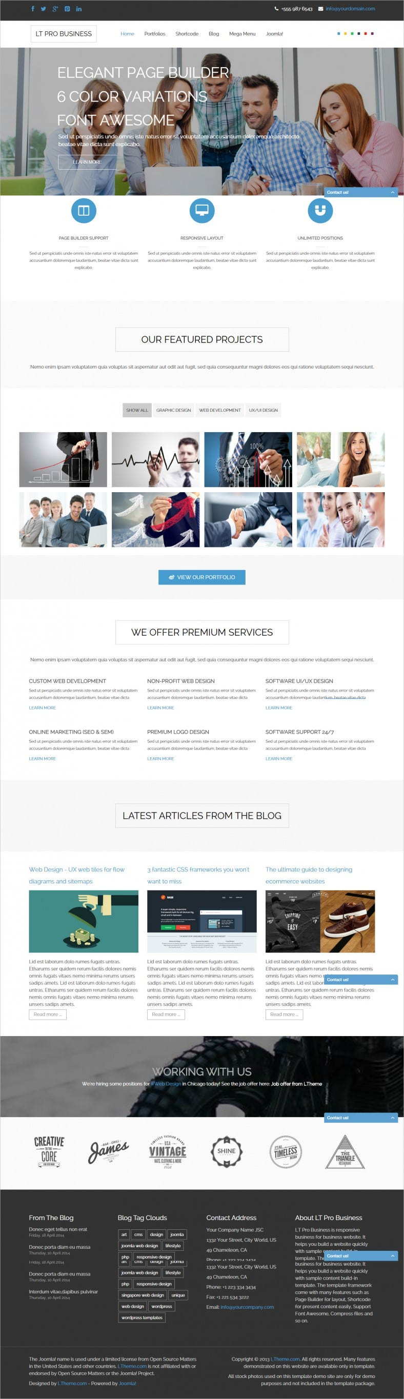 Forex brokers free psd website template