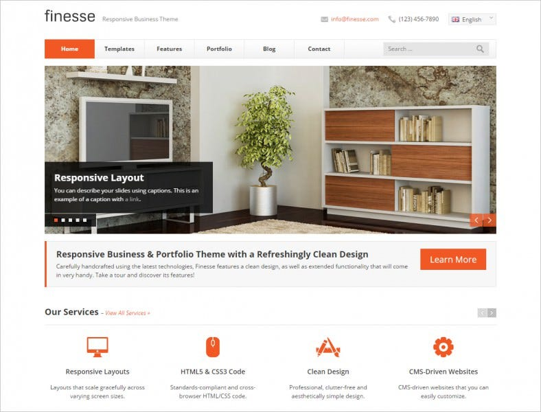 finesse responsive business html template 788x600