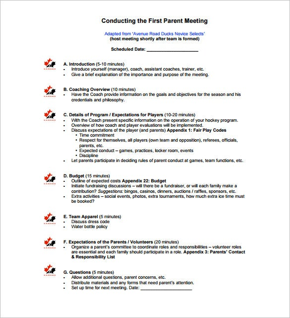 9+ Meeting Outline Template - DOC, PDF | Free & Premium Templates
