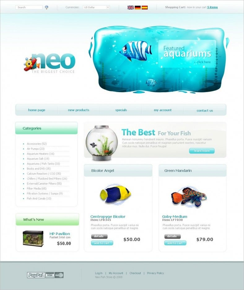 fish oscommerce template 788x937
