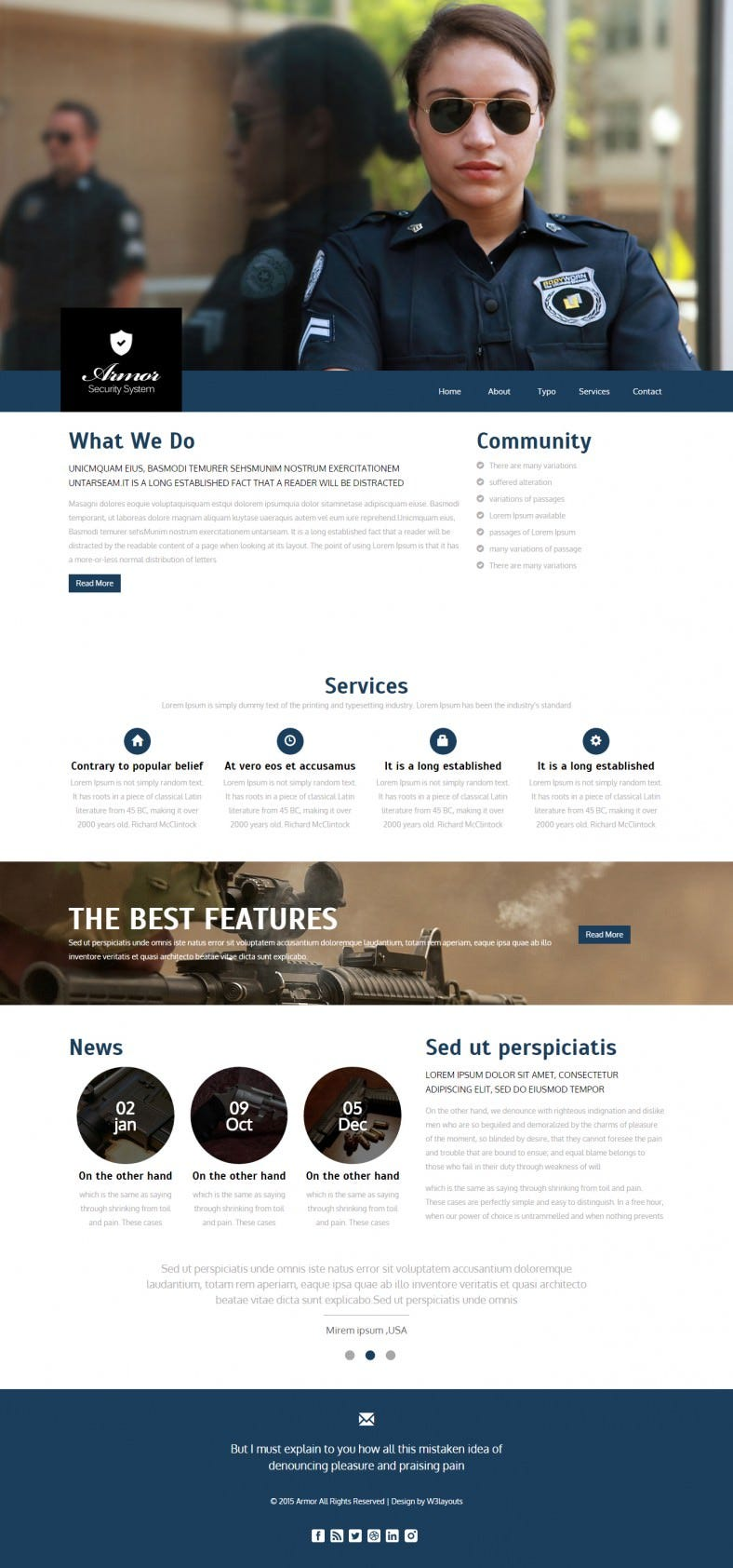 Flat Bootstrap Responsive Security Free Web Template