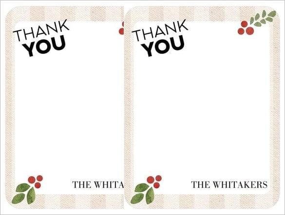 40  christmas thank you card templates  u2013 free psd  eps
