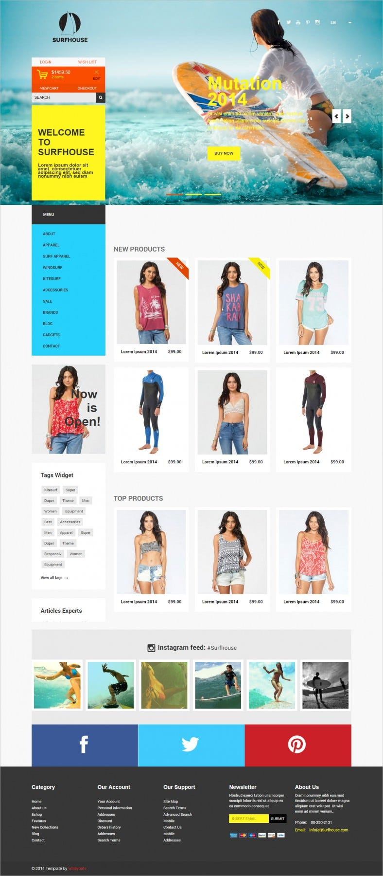 Flat ECommerce Bootstrap Web Template Free Download