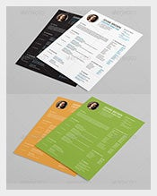 Flat-Resume-with-Massive-look-Template