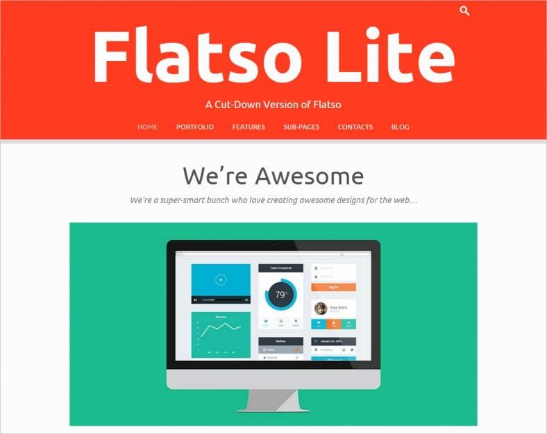 flatso lite flat responsive theme 788x626