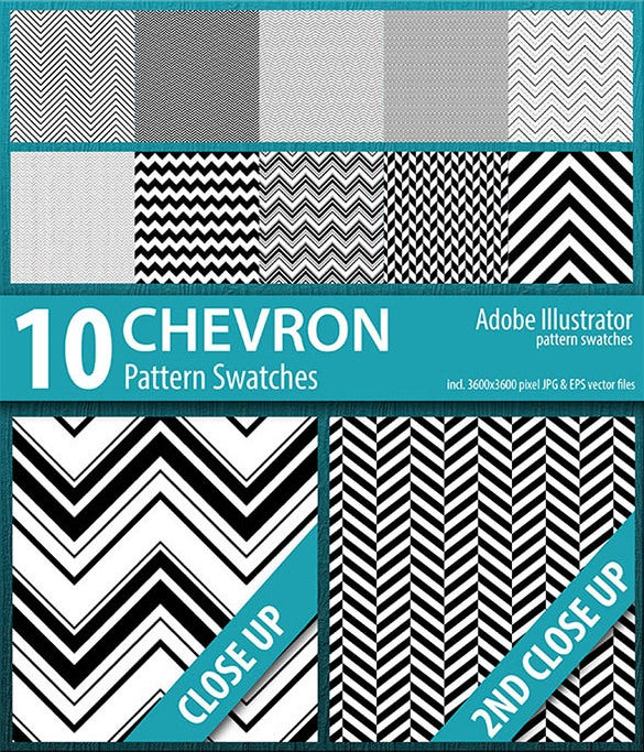 flawless chevron illustrator patern