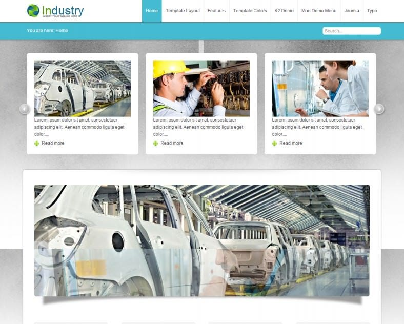 Flexible Joomla Template for Industry Website