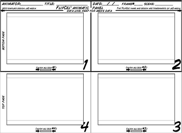 flipcel animatic panel stoaryboard template