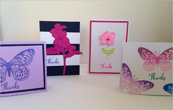 floral business thank you card template