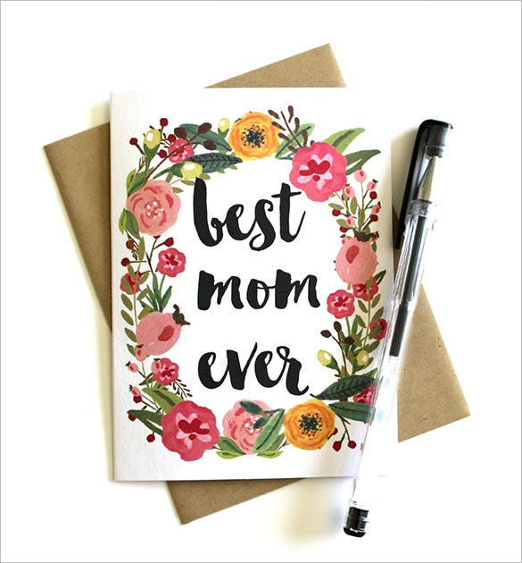 floral mothers day card template1