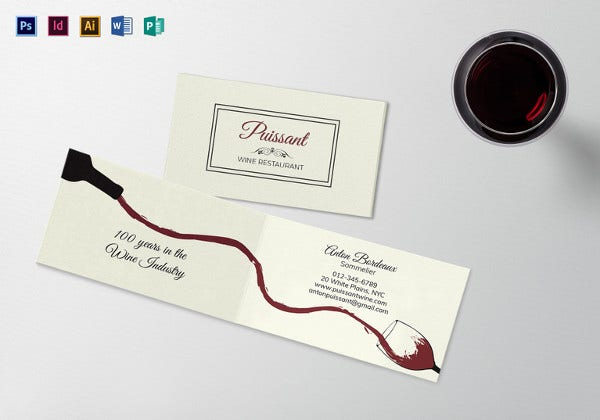 folded business card template1