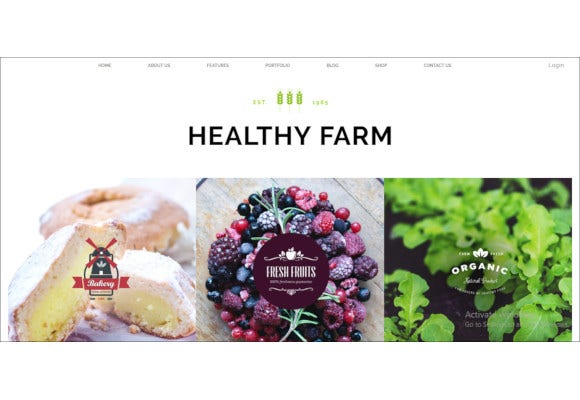 food agriculture wordpress theme