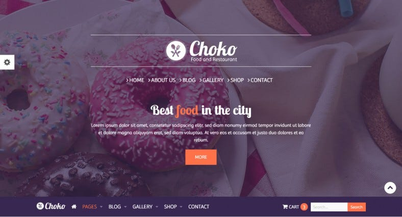 food restaurant html5 website template 788x425