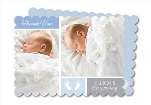 foot print baby thank you card template