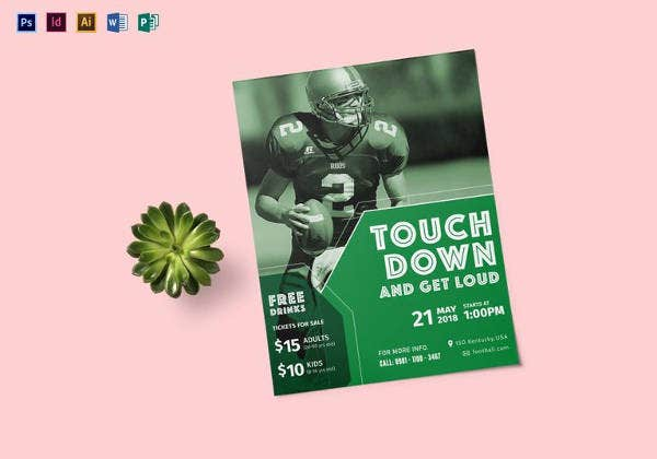football sunday flyer template in psd