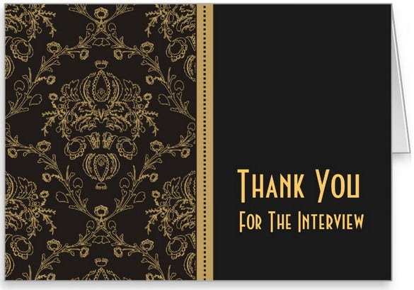 Interview Thank You Cards  Free Printable Psd Eps Format