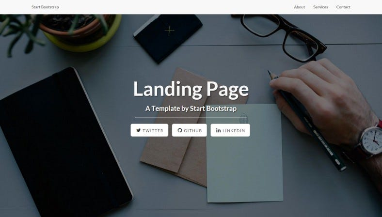 free beautifully responsive landing page theme 788x448