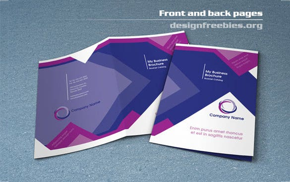 free bifold booklet flyer brochure in design