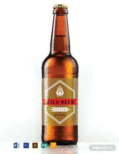 free blank beer label template