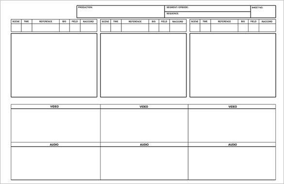 free blank printable storyboard template ms word example