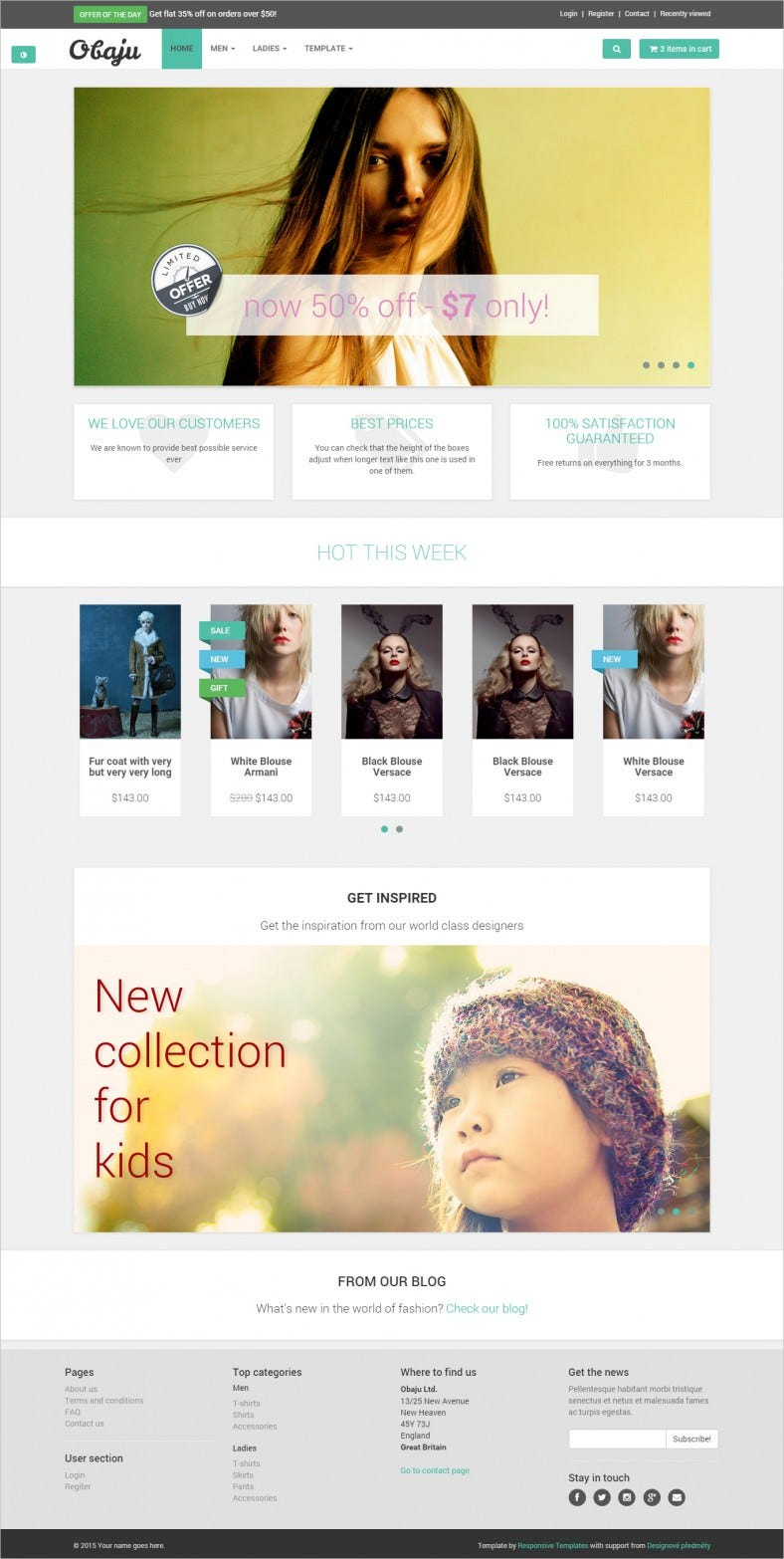 free bootstrap ecommerce website template