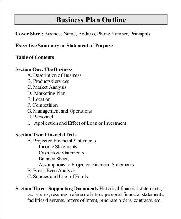 free business proposal outline template - Proposal Outline