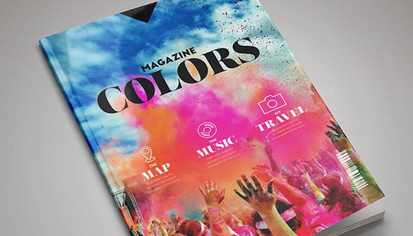 free colour magazine in design template