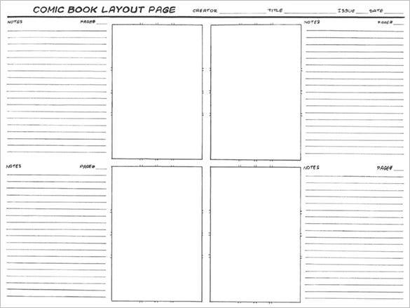 free comic layout storyboard template sample