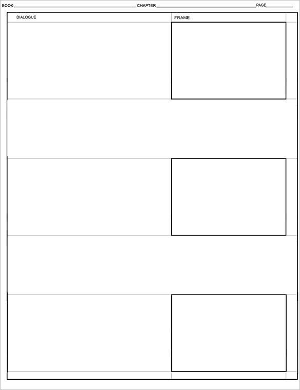 free digital comic storyboard template example