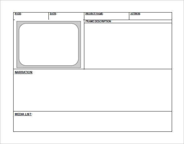 free digital storyboard template pdf format download