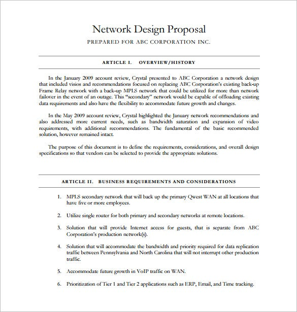 Design Proposal Template – 13+ Free Word, Excel, PDF Format ...