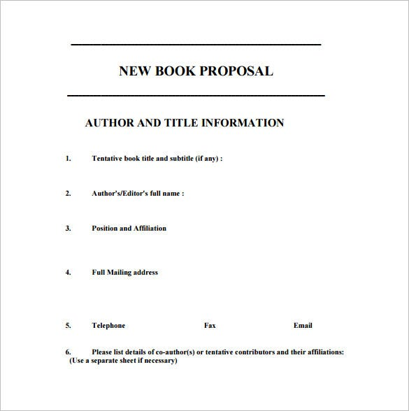 free download new book proposal pdf