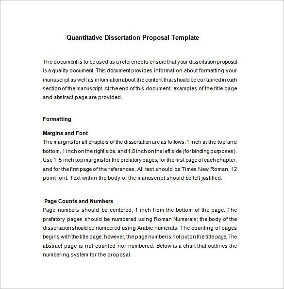 11+ Dissertation Proposal Templates