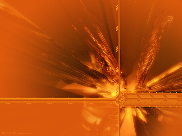 free dynamic orange background download