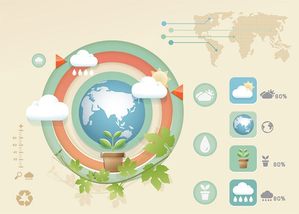 free earth vector infographic template
