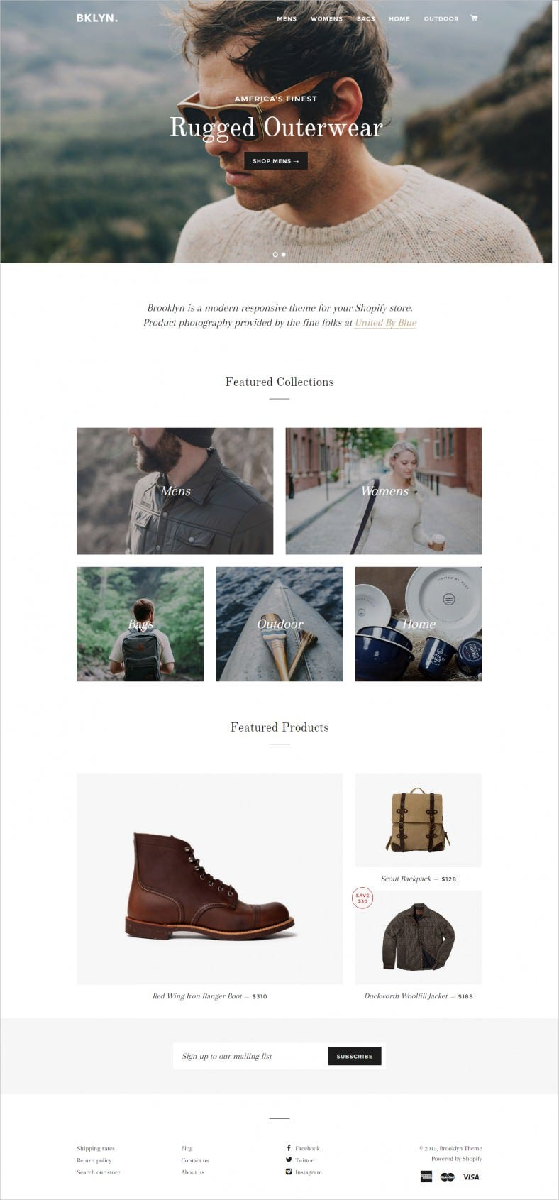 Free Ecommerce Website Template for Apparel Store