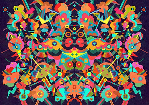 free fantastic festive doodle art download