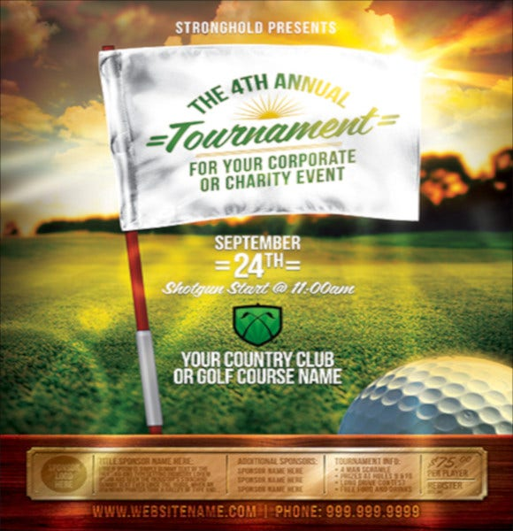 free golf event flyer