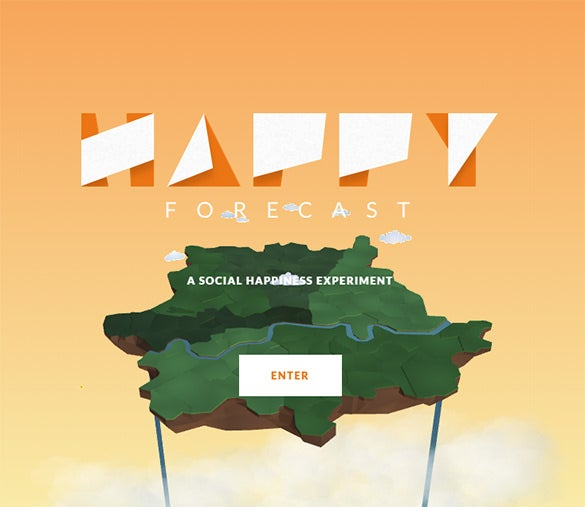 free happy forecast website design idea download
