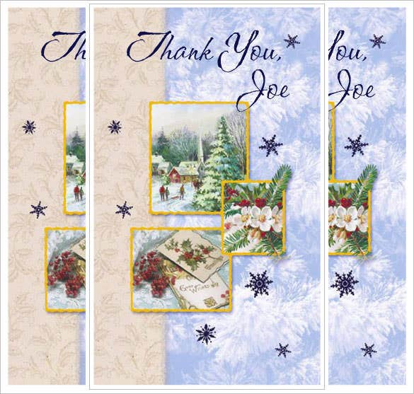free holiday thank you card to print