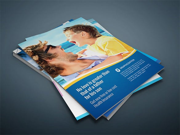 free insurance indesign flyer template